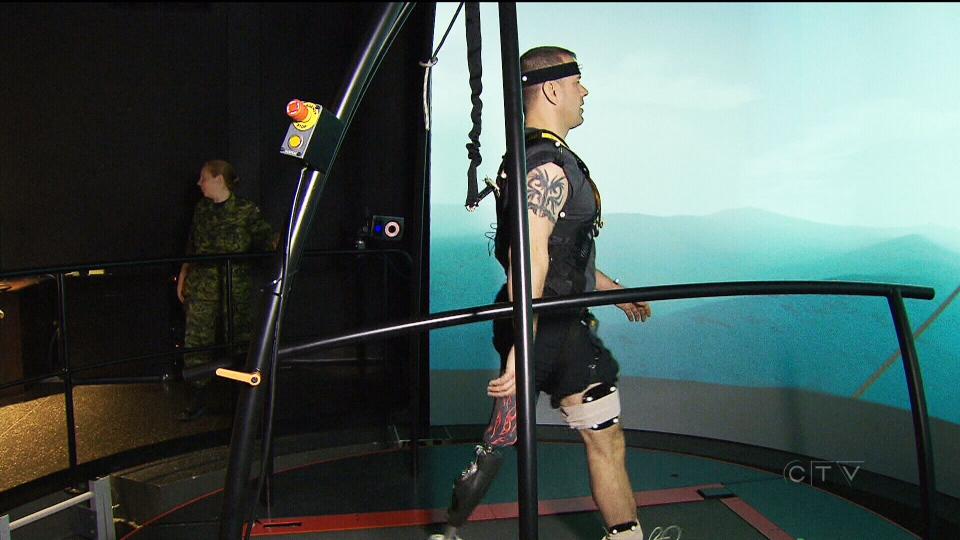 Virtual therapy is helping Canadian vets walk strong with prosthetic legs.
