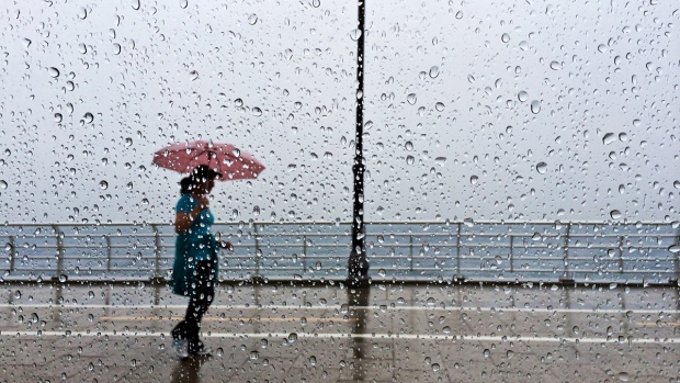 Heavy rain in Beirut, Lebanon
