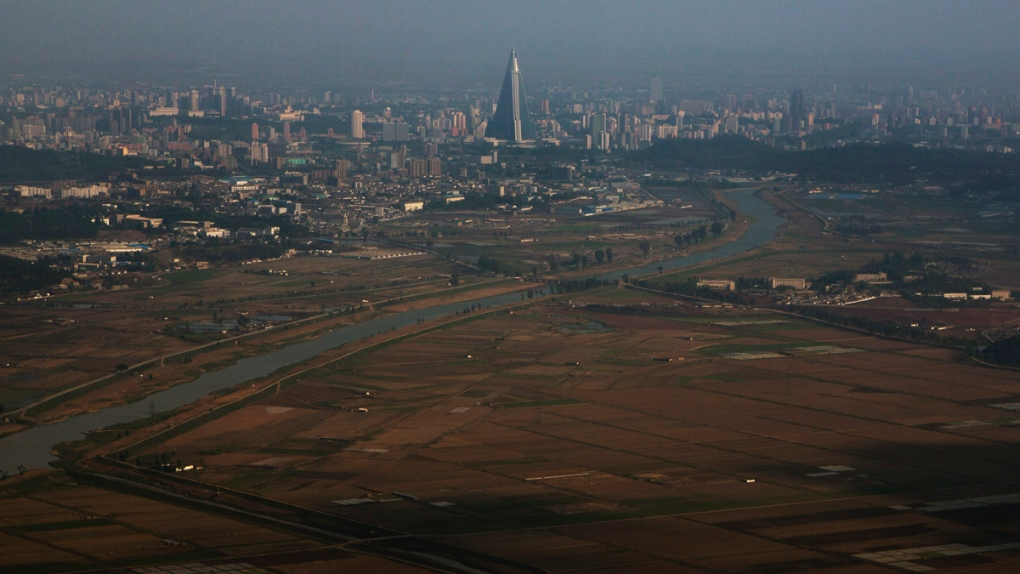 Pyongyang, North Korea seen from the air