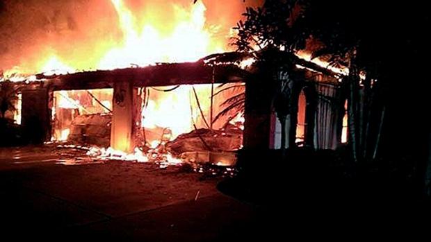 James Blake's Tampa home on fire