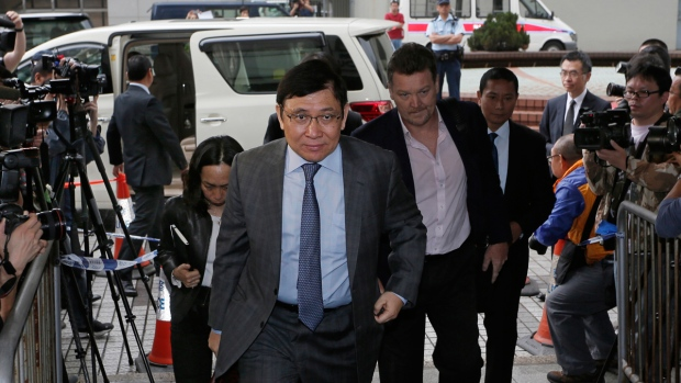Raymond Kwok arrives at court in Hong Kong