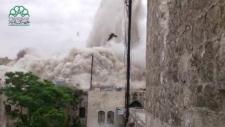 Carlton Hotel explosion in Aleppo, Syria