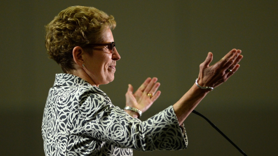 Ontario Liberal leader Kathleen Wynne delivers a speech at an event in Ottawa on Thursday, May 8, 2014. (Sean Kilpatrick / THE CANADIAN PRESS)