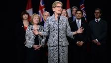 Ontario Liberal leader Kathleen Wynne in Ottawa
