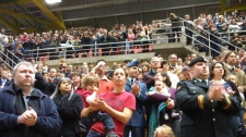 Close to 5,000 people showed up at the University of Alberta's Butterdome to remember our soldiers Friday, Nov. 11, 2011.