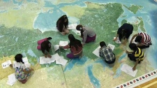 The children can walk from coast-to-coast and study the provinces, territories and capitals of Canada.