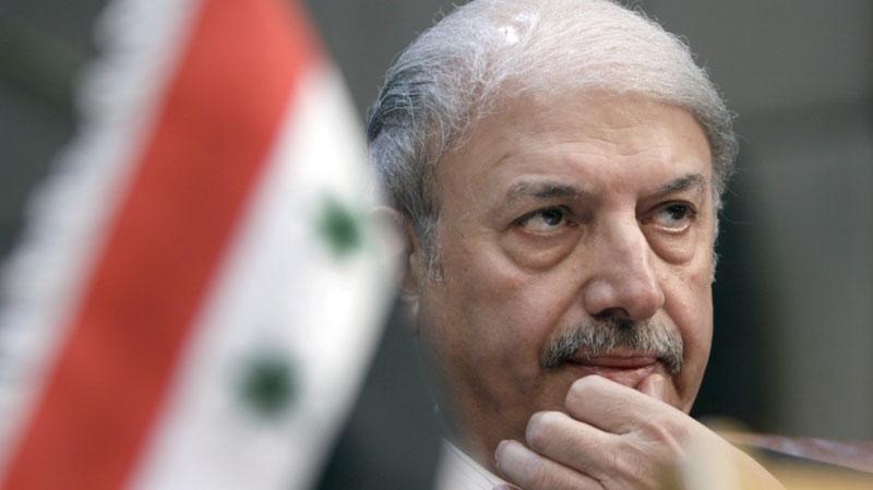 Yussef al-Ahmad, Syria's ambassador to the Arab League, looks on during the Arab League emergency session on Syria at the Arab League headquarters in Cairo, Egypt, Saturday, Nov.12, 2011. (AP / Amr Nabil)