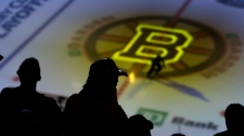 Fans wait for Game 5, between the Boston Bruins an