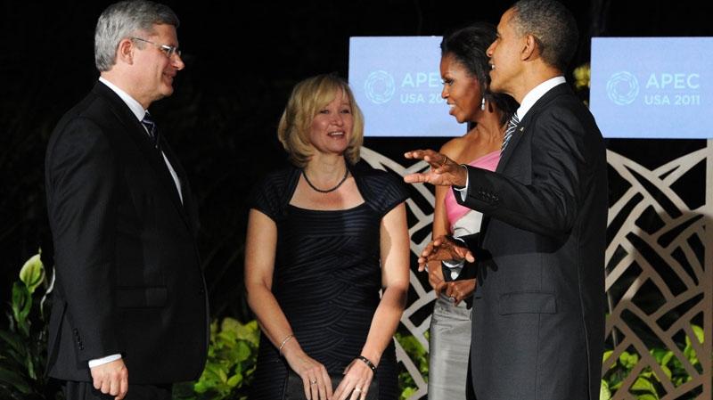 Harper, Obama, summit, Hawaii