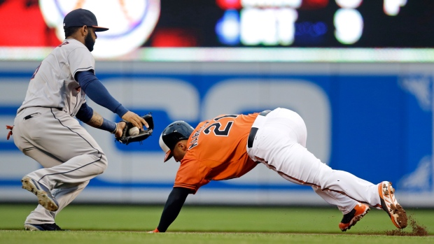Houston Astros and Baltimore Orioles steal second
