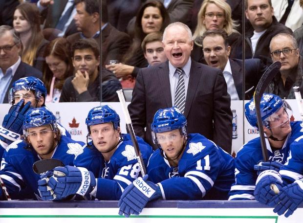 Toronto Maple Leafs head coach Randy Carlyle