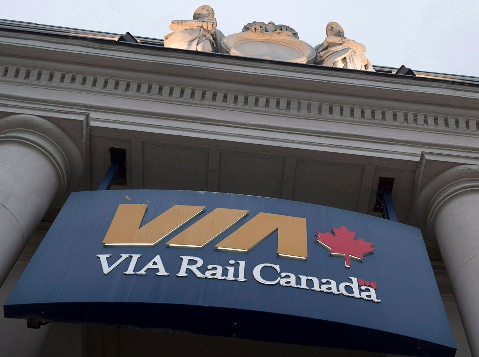 A Via Rail station is seen in Halifax on June 13, 2013. (Andrew Vaughan / THE CANADIAN PRESS)