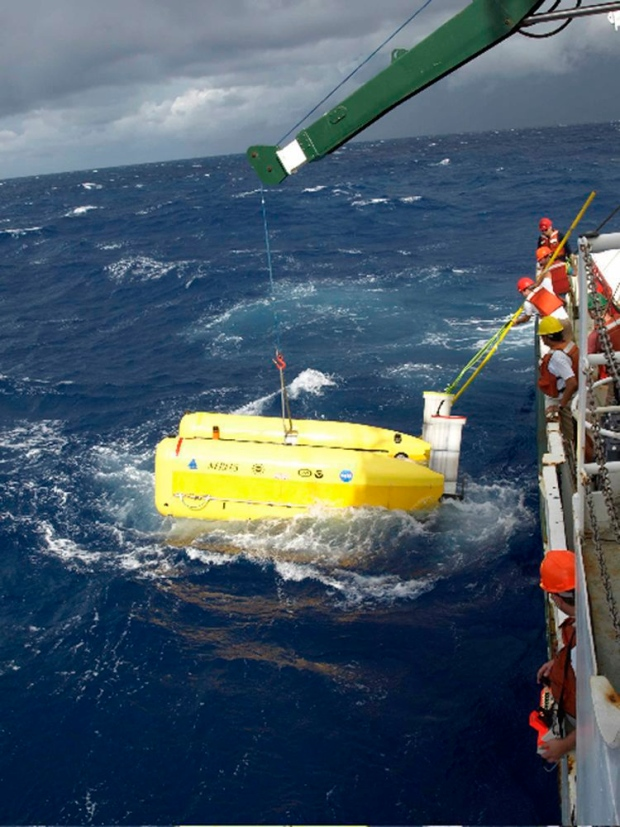 Underwater robot Nereus in Caribbean Sea
