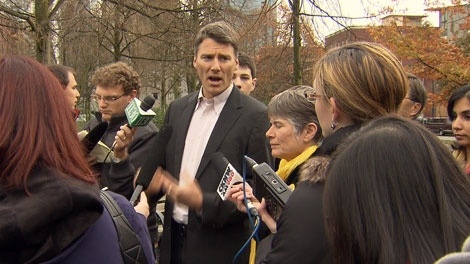 Mayor Gregor Roberston told reporters he plans on creating rent banks if re-elected. Nov. 13, 2011. (CTV)