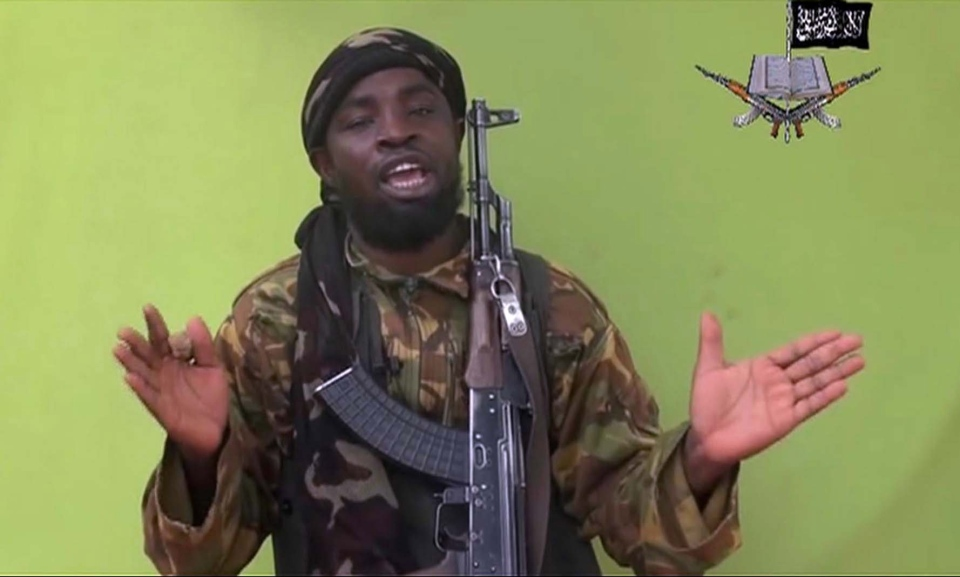 Boko Haram leader Abubakar Shekau speaks to a camera in this video screen grab, Monday, May 12, 2014. (AP)