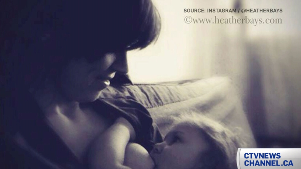 Heather Bays' Instagram account was shut down after she posted a photo of herself breastfeeding her child.