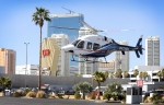 A Bell 429 helicopter lands after a customer demonstration flight in Las Vegas on March 5, 2013. (David Becker / AP for Bell Helicopters)