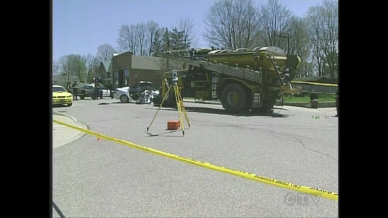 An investigation continues following a fatal collision in Otterville, Ont. on Sunday, May 11, 2014.