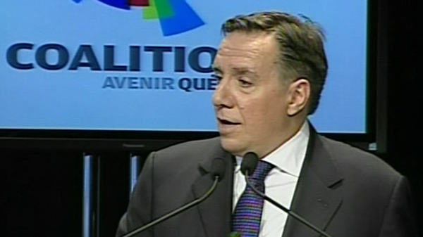 Francois Legault, in Quebec City to launch the Coalition Avenir Quebec (Nov. 14, 2011)