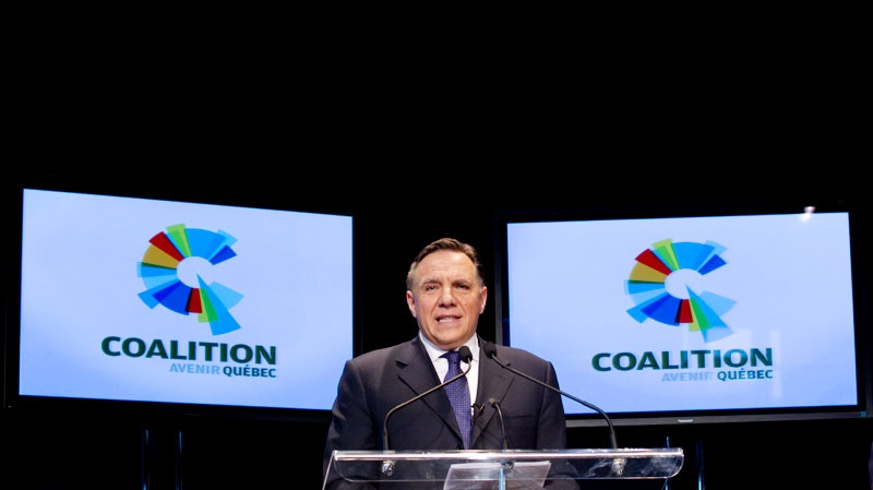Coalition Avenir Quebec, CAQ, Leader Francois Legault launches his new party Monday, November 14, 2011, in Quebec City. (Jacques Boissinot / THE CANADIAN PRESS)