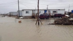 Kashechewan First Nation community on James Bay in northern Ontario, during a flood in May, 2014. (Kashechewan First Nations Communications)