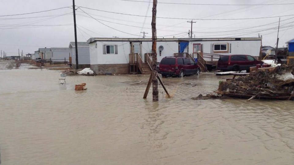 Kashechewan First Nation in May, 2014