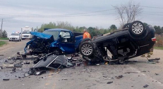 Two dead in Highway 148 crash (Photo credit: MRC Police)