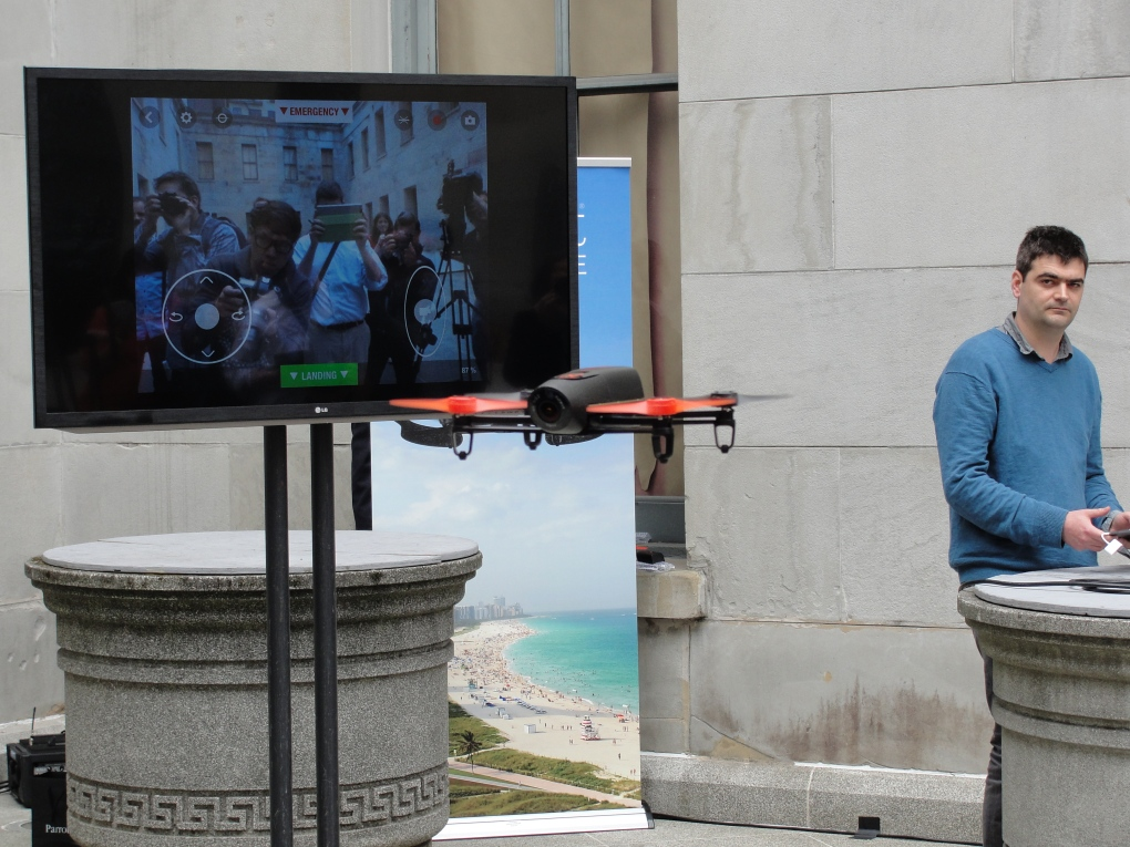 Smartphone-controlled Bebop drone