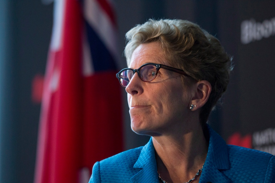 Ontario Premier and Liberal Leader Kathleen Wynne attends the Bloomberg Economic Summit in Toronto on Tuesday May 13 , 2014. (Chris Young / THE CANADIAN PRESS)