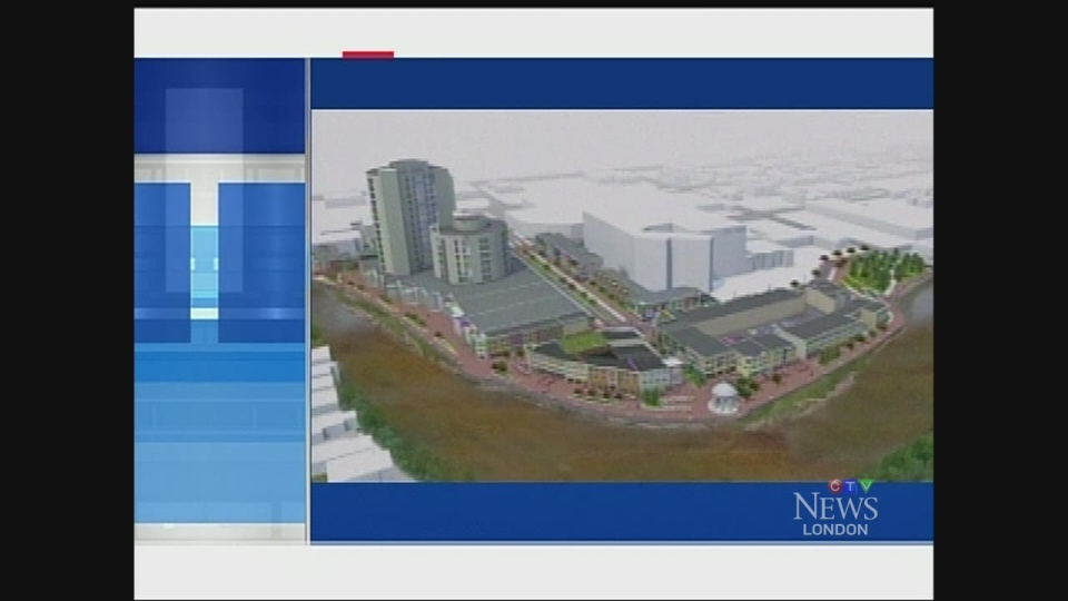 An artist's rendering shows plans for the London Hydro lands.