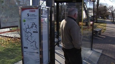 Henry McCambridge said the #5 bus is consistently about 40 minutes late, as it was Monday, Nov. 14, 2011.