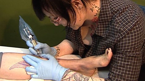 Sarah Rogers says the perception of tattoo over the years has changed over the years.
