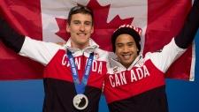 Denny Morrison and Gilmore Junio in Sochi