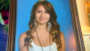 Amanda Todd, 15, is seen in this file photo. Todd killed herself following a period of relentless bullying sparked after an Internet harasser allegedly distributed nude photos of her online throughout her community.