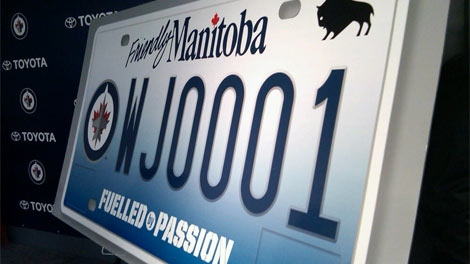 The Jets licence plates were unveiled on Nov. 15, 2011 at an event.