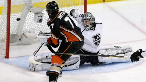 Anaheim Ducks and Los Angeles Kings in action