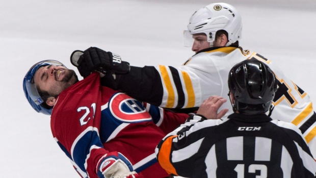 Montreal Canadiens and Boston Bruins in action