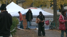 Protesters gather in St. James Park on Tuesday, Nov. 15, 2011.