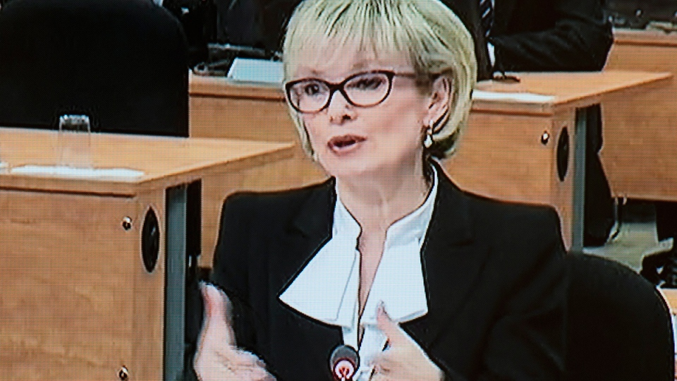 Former transportation minister Julie Boulet testifies before the Charbonneau Commission.