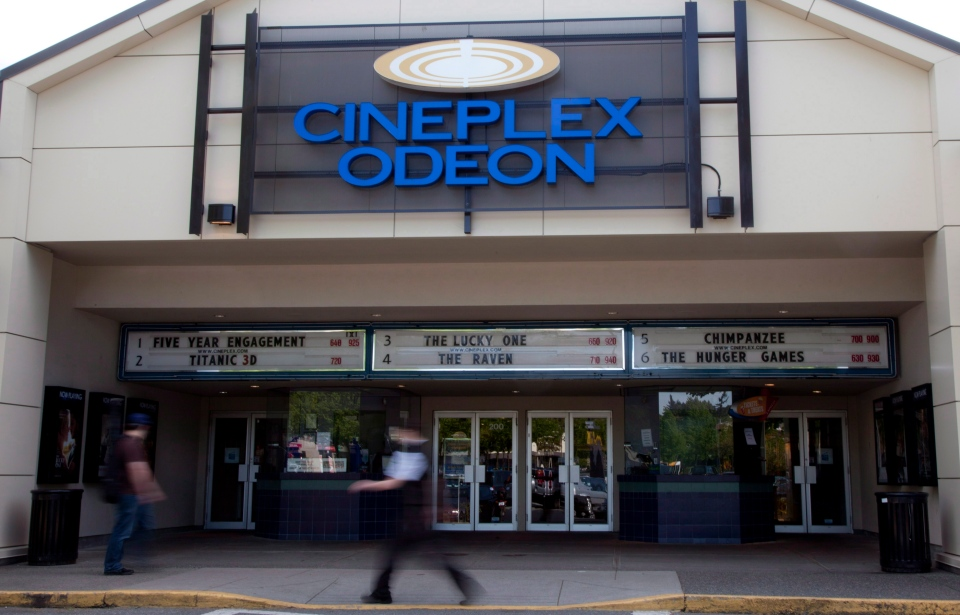 A Cineplex Odeon is pictured in North Vancouver, B.C. Tuesday, May 15, 2012. (Jonathan Hayward / THE CANADIAN PRESS)