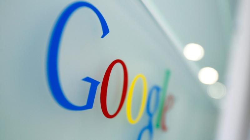 The Google logo is seen at the Google headquarters in Brussels, in March 2010. (AP / Virginia Mayo)