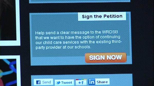 Concerned parents have posted a petition online to vocie their concerns about daycare changes proposed by the Waterloo Region District School Board.