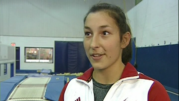 Karine Dufour, 16, is a National Trampoline Champion (Nov. 16, 2011)