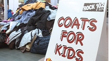 Along with Care and Share, Rock 102 FM asked listeners to donate coats for deserving kids in the community. Over 900 coats were donated and distributed to the 17 Saskatoon community schools.