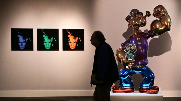Warhol selfies auctioned for $30.1 in New York