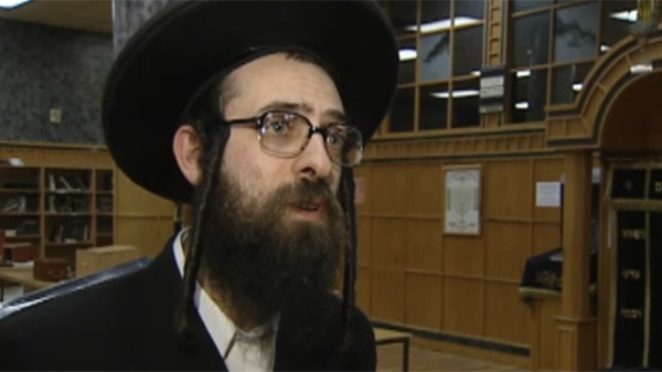 Rabbi Israel Myer says the Jewish community in Boisbriand is frequently the victim of intimidation. (Nov. 16, 2011)
