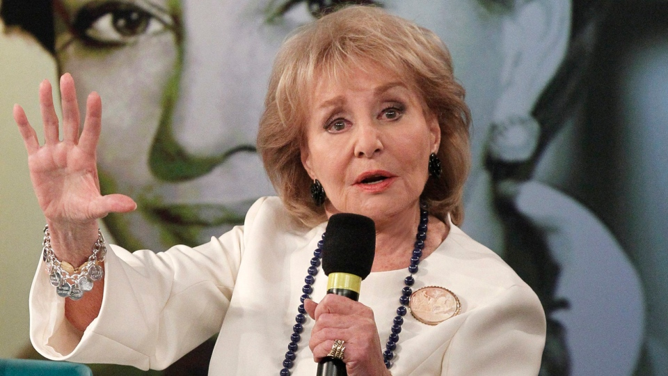 This image released by ABC shows Barbara Walters speaking during a taping of her final co-host appearance on 'The View,' Thursday, May 15, 2014 in New York. (AP / ABC, Lou Rocco)