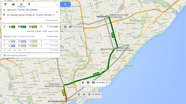 Google Maps adds public transit info for cities around the world ...