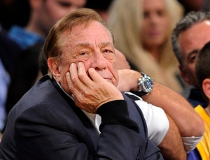 Los Angeles Clippers owner Donald Sterling looks on during the first half of their NBA basketball game against the Los Angeles Lakers, in Los Angeles, Feb. 25, 2011. (AP / Mark J. Terrill)