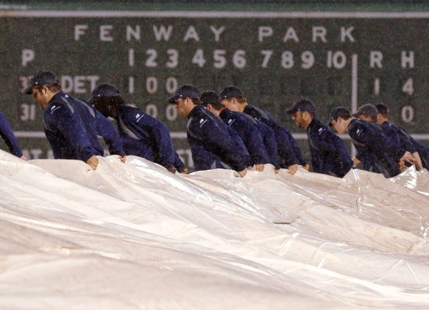 Woman falls at Fenway Park